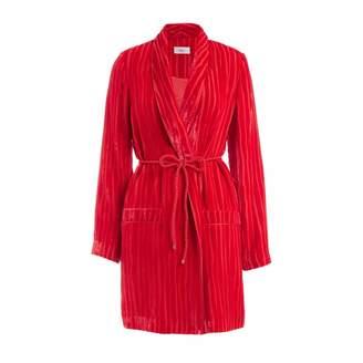 Wolf & Badger Serrano Red Velvet Wrap Jacket