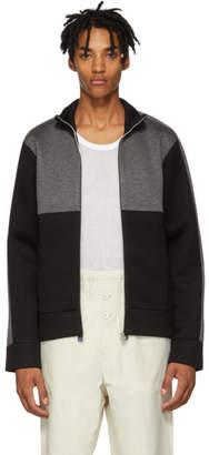 Helmut Lang Black and Grey Contrast Track Jacket
