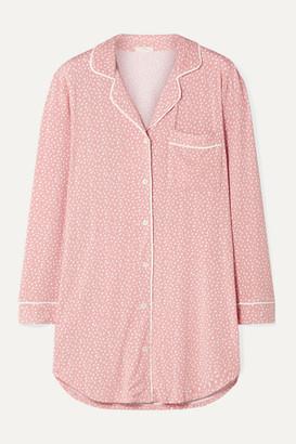 Eberjey Sleep Chic Printed Stretch-modal Pajama Shirt - Baby pink