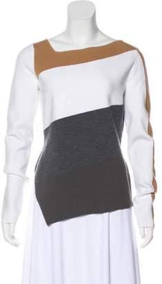 Diane von Furstenberg Merino Wool-Blend Asymmetrical Sweater