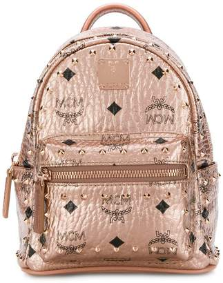 MCM mini stark outline studs backpack