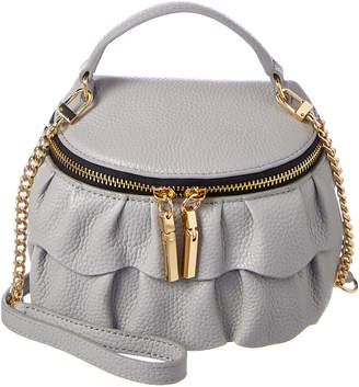 Milly Astor Ruffle Leather Crossbody
