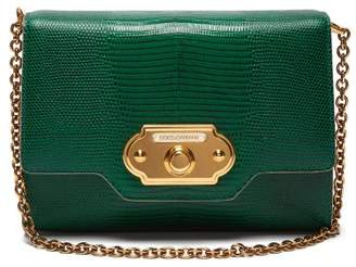 Dolce & Gabbana Welcome Iguana Effect Leather Clutch - Womens - Green
