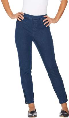 Isaac Mizrahi Live! Tall 24/7 Denim Ankle Jeans with Zips