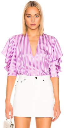 Mason by Michelle Mason Ruffle Sleeve Top in Lilac | FWRD