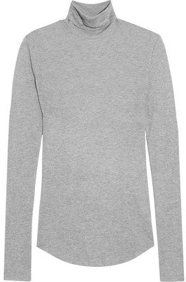 J.Crew - Tencel And Cashmere-blend Turtleneck Sweater - Gray $100 thestylecure.com
