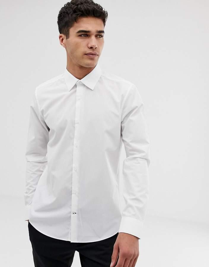 Burton Menswear – Schmales Hemd in Weiß