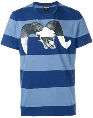 Just Cavalli graphic print striped T-shirt