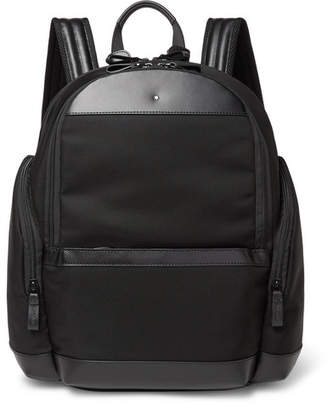 Montblanc Nightflight Leather-Trimmed Nylon Backpack