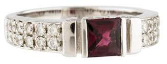 Di Modolo 18K Garnet & Diamond Band
