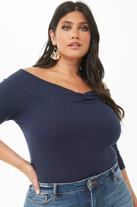 7abcb5b4c5c Forever 21 Blue Plus Size Tops on Sale - ShopStyle Canada