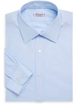 Charvet Slim-Fit End on End Cotton Dress Shirt