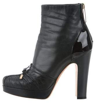 Alessandro Dell'Acqua Bow-Embellished Ankle Boots
