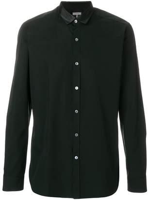 Lanvin satin collar button shirt