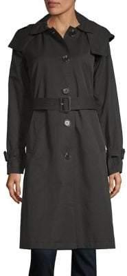 MICHAEL Michael Kors Long-Sleeve Hooded Trench Coat