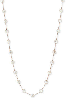 "Effy Cultured Freshwater Pearl (6mm) 36"" Station Long Necklace in 14k Gold"