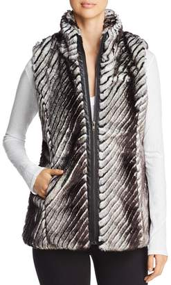 Sioni Paneled Faux Fur Vest