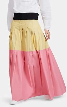 PLAN C Women's Cotton-Blend High-Waist Long Full Skirt - Pink