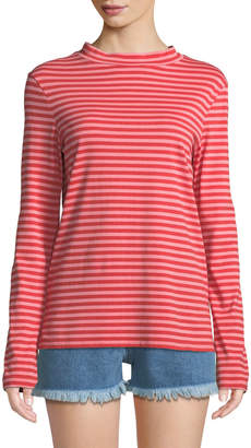 MiH Jeans Emelie Striped Long-Sleeve Cotton Top