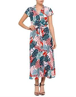 David Jones Tropical Print Button Dress
