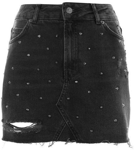 TopshopTopshop Moto stud denim mini skirt