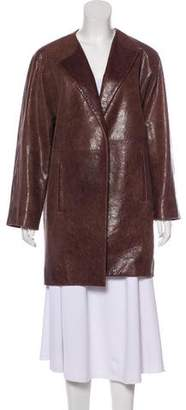 Balenciaga Leather Open Coat
