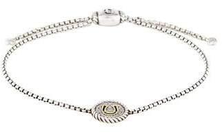 David Yurman Diamond Cable Collectibles Horseshoe Charm Bracelet