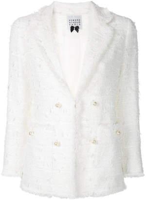Edward Achour Paris pearl button blazer
