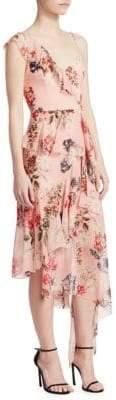 Nicholas Lilac Floral Frill Dress