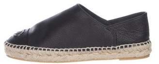Chanel Leather Flat Espadrilles