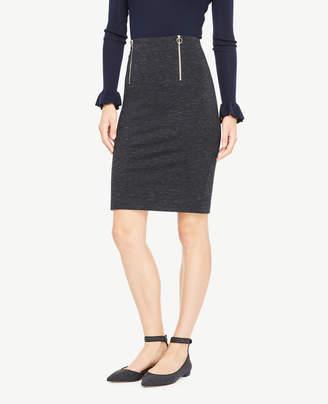 Ann Taylor Spacedye Front Zip Pencil Skirt