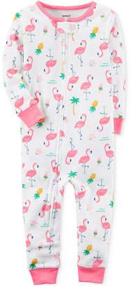 Carter's 1-Pc. Flamingo-Print Cotton Pajamas, Baby Girls