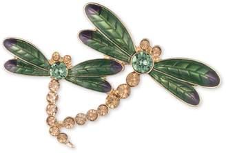 Anne Klein Crystal Dragonfly Family Brooch