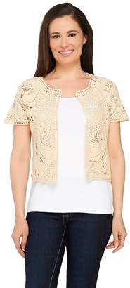 Liz Claiborne New York Hand Crochet and Sweater Knit Shrug