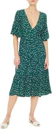 Faithfull The Brand Melia Floral Print Midi Dress
