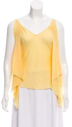 John Galliano Sleeveless V-neck Blouse
