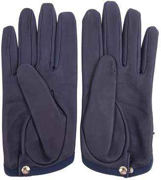 Causse Navy Leather Gloves