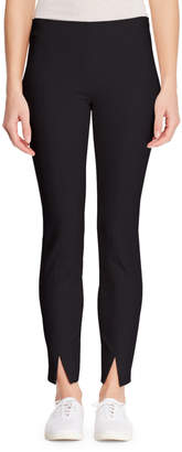 The Row Sorocco Skinny Stretch-Wool Pants with Slit Hem