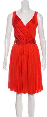Gucci Ruched-Accented Knee-Length Dress