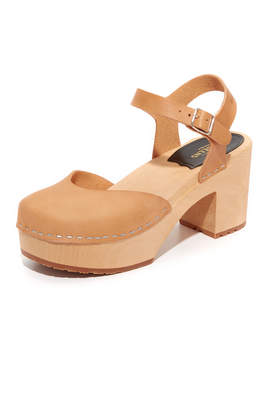 Swedish Hasbeens Krillan Platform Sandals $239 thestylecure.com
