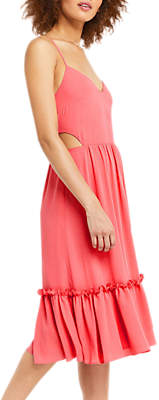 Oasis Cutout Side Midi Dress, Mid Pink