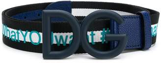 Dolce & Gabbana tDG logo buckle belt