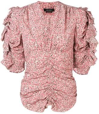 Isabel Marant ruffle sleeve blouse