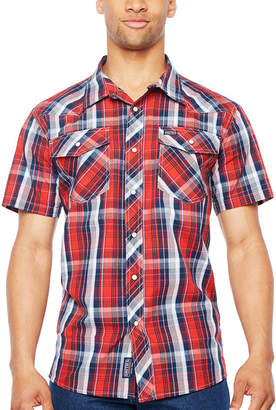 Smith Workwear Short Sleeve Plaid Button-Front Shirt