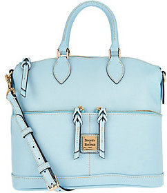Dooney & Bourke Saffiano Leather Pocket Satchel $194 thestylecure.com
