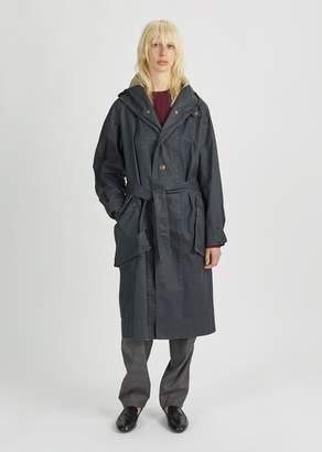 Etoile Isabel Marant Donato Hooded Trench Coat Dark Midnight
