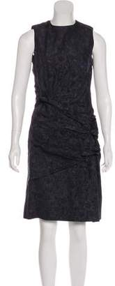 Peter Som Embroidered Sleeveless Dress