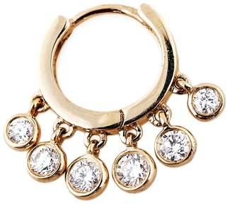 Jacquie Aiche Mini Diamond Shaker Hoop Earring - Yellow Gold