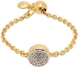 Monica Vinader Gold Vermeil Fiji Diamond Button Friendship Ring