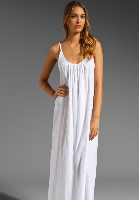 Mikoh Swimwear Sardinia Low Back Maxi Dress